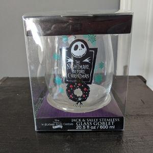 NWT Disney Nightmare Before Christmas Glass